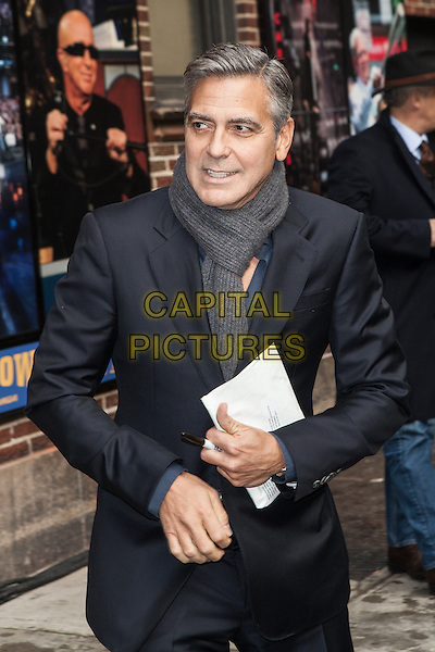 NEW YORK, NY -  FEBRUARY 4: George Clooney visits the Late Show With David Letterman on February 4, 2014 in New York City, NY., USA.<br /> CAP/MPI/COR<br /> &copy;Corredor99/ MediaPunch/Capital Pictures