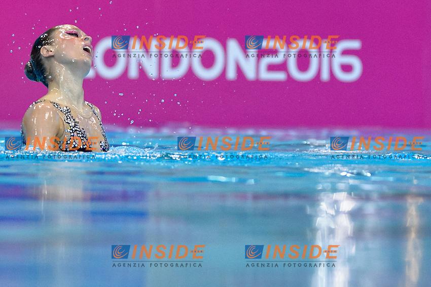 DE GRAAF Margot NED Netherlands <br /> Solo Free<br /> London, Queen Elizabeth II Olympic Park Pool <br /> LEN 2016 European Aquatics Elite Championships <br /> Synchronized Swimming  <br /> Day 01 09-05-2016<br /> Photo Andrea Staccioli/Deepbluemedia/Insidefoto