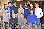 Bridie Cronin, Woodlawn Road, Killarney who celebrated her 70th birthday with her family and friends in the Royal Hotel Killarney on Saturday night front row l-r: Jerry, Bridie and Padraig. Back row: Aoife, Aine, Diarmuid, Linda, Eilís Cronin, Máire Kirwan and Robbie Kirwan.