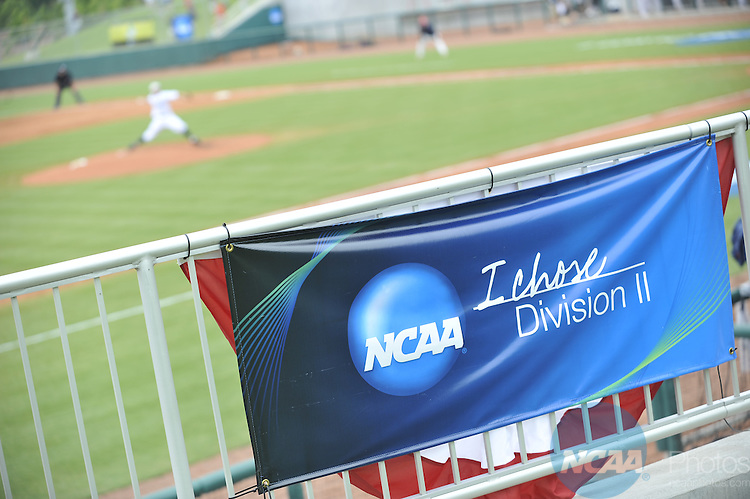 29 MAY 2010:  UC-San Diego takes on the University of Southern Indiana during the Division II Men's Baseball Championship held at the USA Baseball National Training Complex in Cary, NC.  The University of Southern Indiana defeated UC-San Diego 6-4 to win the national title.  Grant Halverson/ NCAA Photos