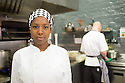 Edinburgh, UK. 07.08.2014.  Jade Anouka, star of Sabrina Mahfouz's Chef, in the kitchen of Edinburgh's top restaurant Timberyard. Photograph © Jane Hobson.