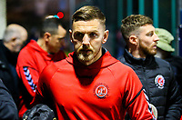 Fleetwood Town's Ashley Eastham arrives at Nethermoor Park<br /> <br /> Photographer Alex Dodd/CameraSport<br /> <br /> The Emirates FA Cup Second Round - Guiseley v Fleetwood Town - Monday 3rd December 2018 - Nethermoor Park - Guiseley<br />  <br /> World Copyright © 2018 CameraSport. All rights reserved. 43 Linden Ave. Countesthorpe. Leicester. England. LE8 5PG - Tel: +44 (0) 116 277 4147 - admin@camerasport.com - www.camerasport.com