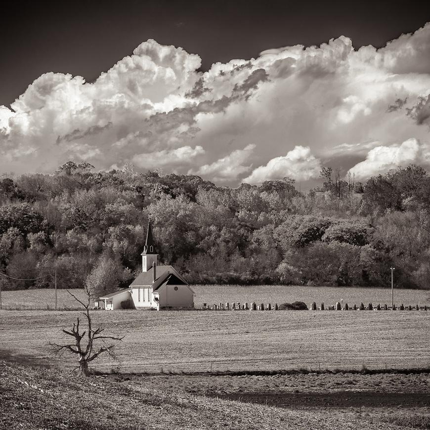 #blackandwhite #monochrome #wisconsin #midwestmemoir #photograph #landscape #B&W #wisconsinphotograph #photography #wisconsinphotographer #black&white  #midwest #church #graveyard #clouds #theprintswap