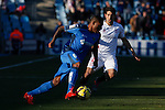 Getafe´s Sammir (L) and Sevilla´s Niko Pareja during 2014-15 La Liga match at Alfonso Perez Coliseum stadium in Getafe, Spain. February 08, 2015. (ALTERPHOTOS/Victor Blanco)