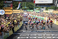 Caleb Ewan (AUS/Lotto-Soudal) wins the bunchsprint into Nîmes, his 2nd stage win in his first Tour<br /> <br /> Stage 16: Nîmes to Nîmes (177km)<br /> 106th Tour de France 2019 (2.UWT)<br /> <br /> ©kramon