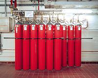 Inergen fire suppression system,.Basement 1, Zone 9,.British Library, 2007