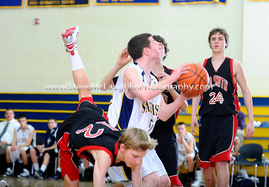 RHAM Boy's Basketball vs. EO Smith 1/11/2011.