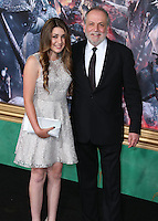 HOLLYWOOD, LOS ANGELES, CA, USA - DECEMBER 09: Joe Letteri, Sofia Letteri  arrive at the World Premiere Of New Line Cinema, MGM Pictures And Warner Bros. Pictures' 'The Hobbit: The Battle of the Five Armies' held at the Dolby Theatre on December 9, 2014 in Hollywood, Los Angeles, California, United States. (Photo by Xavier Collin/Celebrity Monitor)