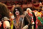 27. 02.2019, Maritim Hotel , Koeln,  GER, Karnevalssitzung des 1. FC Koeln , <br /> <br /> im Bild / picture shows: <br /> die Garde zieht mit den Ehrengaesten und den Oldstar Spielern des FC Koeln ein Markus Ritterbach Präsident / Praesident (1.FC Koeln),  als KISS<br /> <br /> Foto © nordphoto / Meuter