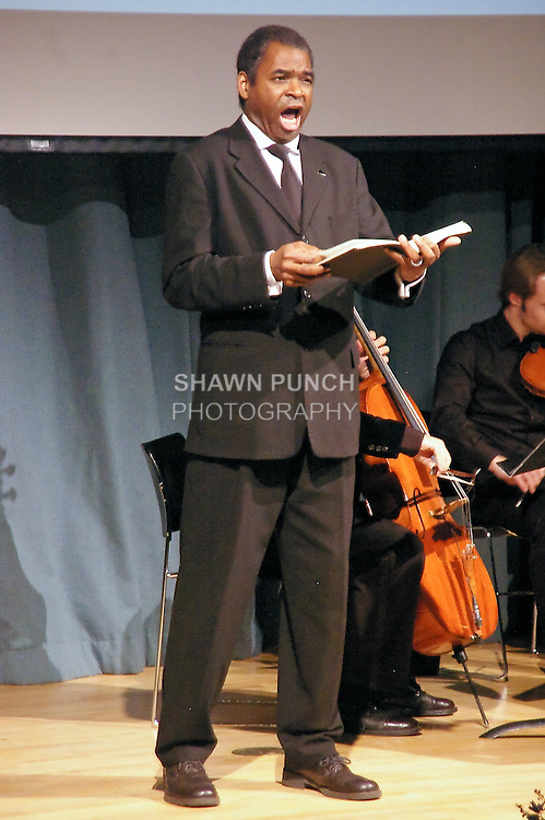 Terry Cook Bass-Baritone performs at the John Jay Justice Award ceremony, April 5 2011.