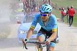 Dmitriy Gruzdev (KAZ) Astana Pro team attacks on sector 8 Monte Santa Maria during Strade Bianche 2019 running 184km from Siena to Siena, held over the white gravel roads of Tuscany, Italy. 9th March 2019.<br /> Picture: Eoin Clarke | Cyclefile<br /> <br /> <br /> All photos usage must carry mandatory copyright credit (© Cyclefile | Eoin Clarke)