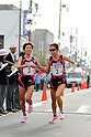 (L-R) Kaoru Nagao, Miya Nishio (Universal Entertainment), NOVEMBER 3, 2011 - Ekiden : East Japan Industrial Women's Ekiden Race at Saitama, Japan. (Photo by Toshihiro Kitagawa/AFLO)