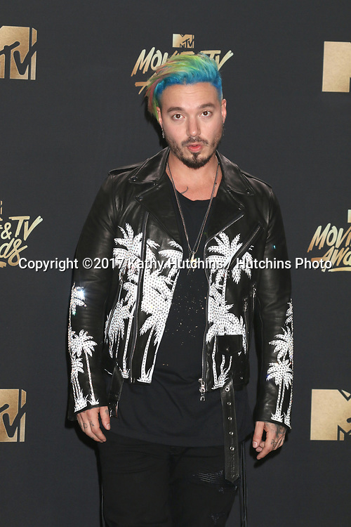 LOS ANGELES - MAY 7:  J Balvin at the MTV Movie and Television Awards on the Shrine Auditorium on May 7, 2017 in Los Angeles, CA