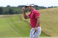 Paul Casey (ENG) sinks his birdie putt on the 8th green during Saturday's Round 3 of the 117th U.S. Open Championship 2017 held at Erin Hills, Erin, Wisconsin, USA. 17th June 2017.<br /> Picture: Eoin Clarke | Golffile<br /> <br /> <br /> All photos usage must carry mandatory copyright credit (&copy; Golffile | Eoin Clarke)