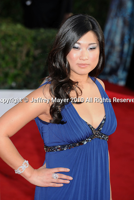 LOS ANGELES, CA. - January 23: Jenna Ushkowitz  arrives at the 16th Annual Screen Actors Guild Awards held at The Shrine Auditorium on January 23, 2010 in Los Angeles, California.