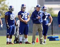 DT Markus Kuhn neben Head Coach Tom Coughlin (Giants)