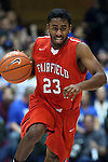 15 November 2014: Fairfield's Steve Johnston. The Duke University Blue Devils hosted the Fairfield University Stags at Cameron Indoor Stadium in Durham, North Carolina in an NCAA Men's Basketball exhibition game. Duke won the game 109-59.