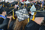Celestial aspirations for this grad during the 2015 Western Nevada College Commencement held at the Pony Express Pavilion in Carson City, Nev., on Monday, May 18, 2015.<br /> Photo by Tim Dunn