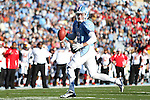 24 November 2012: UNC's Bryn Renner (2). The University of North Carolina Tar Heels played the University of Maryland Terrapins at Kenan Memorial Stadium in Chapel Hill, North Carolina in a 2012 NCAA Division I Football game. UNC won 45-38.