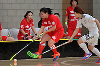 China&rsquo;s Hong Sang in action during the World Floorball Championships 2017 Qualification for Asia Oceania Region - Korea v China at ASB Sports Centre , Wellington, New Zealand on Saturday 4 February 2017.<br /> Photo by Masanori Udagawa<br /> www.photowellington.photoshelter.com.