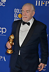 Brian Cox 158 poses in the press room with awards at the 77th Annual Golden Globe Awards at The Beverly Hilton Hotel on January 05, 2020 in Beverly Hills, California.