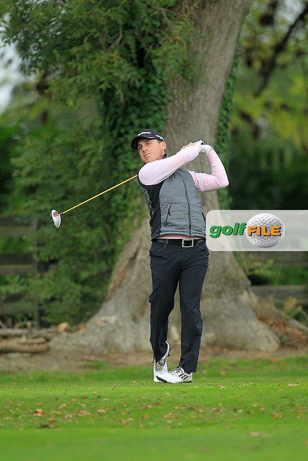 Cian McNamara (MonkstownG.C) on the 1st during Round 3 of The Cassidy Golf 103rd Irish PGA Championship in Roganstown Golf Club on Saturday 12th October 2013.<br /> Picture:  Thos Caffrey / www.golffile.ie