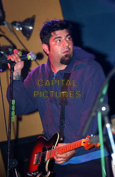 CHINO MORENO (of THE DEFTONES fame) performs with TEAM SLEEP.Performs  during a tour stop of their much anticipated first full American tour held at Mr. Smalls Theatre, Pittsburgh, PA, USA,.July 6, 2005..half length concert gig guitar music.Ref: ADM.www.capitalpictures.com.sales@capitalpictures.com.©Jason Nelson/AdMedia/Capital Picture