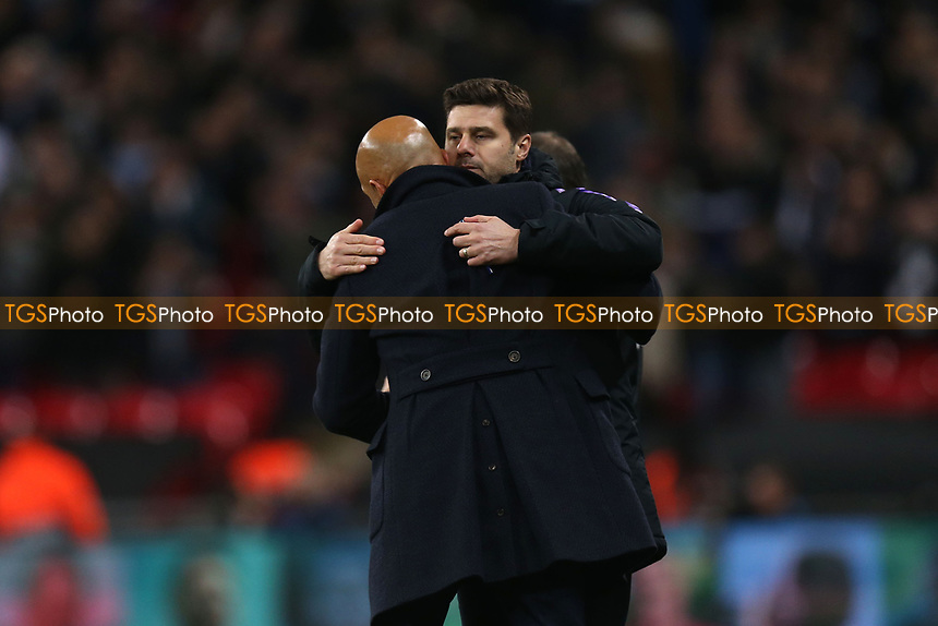 Internazionale head coach Luciano Spalletti and Tottenham Hotspur manager Mauricio Pochettino after Tottenham Hotspur vs Inter Milan, UEFA Champions League Football at Wembley Stadium on 28th November 2018