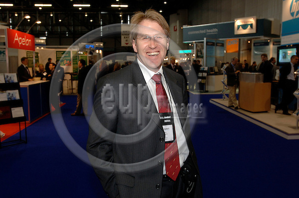 GENEVA - SWITZERLAND 12. 10. 2006 -- The World of Health IT. Exhibition: Lukas Venneman -- PHOTO: GORM K. GAARE / EUP- IMAGES ...