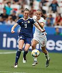 09.06.2019 England v Scotland Women: Caroline Weir and Jill Scott