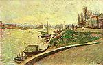 Le Clipper, Asnieres, 1887<br /> Paul Signac (1863–1935)<br /> Pointillism. landscape. Private Collection.