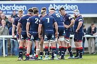 London Scottish players during the Greene King IPA Championship match between London Scottish Football Club and Nottingham Rugby at Richmond Athletic Ground, Richmond, United Kingdom on 15 April 2017. Photo by David Horn.