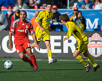 02 May 2009: Toronto FC midfielder Dewayne DeRosario #14 in action at BMO Field in a game between the Columbus Crew and Toronto FC. .The game ended in a 1-1 draw...