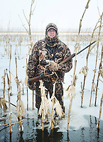 Pat Berggren (cq) during a hunting trip just off the duck-rich Platte River in Nebraska, Saturday, December 3, 2011...Photo by Matt Nager