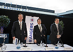 Norman Crighton, Brian Stockbridge and Sandy Easdale at the Rangers AGM