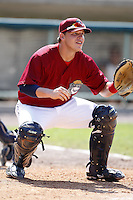 June 24, 2009:  Catcher Roberto Perez of the Mahoning Valley Scrappers during a game at Eastwood Field in Niles, OH.  The Scrappers are the NY-Penn League Short-Season Single-A affiliate of the Cleveland Indians.  Photo by:  Mike Janes/Four Seam Images