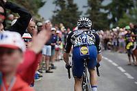 Petr Vakoc (CZE/Etixx-QuickStep) up the Mont&eacute;e de Bisanne (HC/1723m/12.4km/8.2%)<br /> <br /> Stage 19:  Albertville &rsaquo; Saint-Gervais /Mont Blanc (146km)<br /> 103rd Tour de France 2016