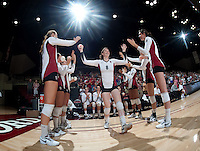 STANFORD, CA - September 2: Cassidy Lichtman during a volleyball match against UC Irvine, September 2, 2010 in Stanford, California. Stanford won 3-0.