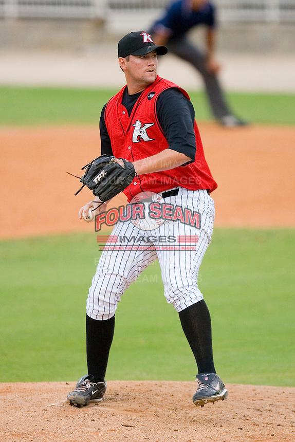 Dan Remenowsky #29 of the Kannapolis Intimidators in action versus the Rome Braves at Fieldcrest Cannon Stadium July 26, 2009 in Kannapolis, North Carolina. (Photo by Brian Westerholt / Four Seam Images)