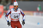 Sergio Rigoni in action at the sprint qualification of the FIS Cross Country Ski World Cup  in Dobbiaco, Toblach, on January 14, 2017. Credit: Pierre Teyssot