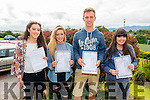 L-R Michelle Moriarty, Leanne Pierce, Robert Shaw and Kayleen Nolan from Intermediate School, Killorglin after receiving their Leaving Cert results last Wednesday morning.