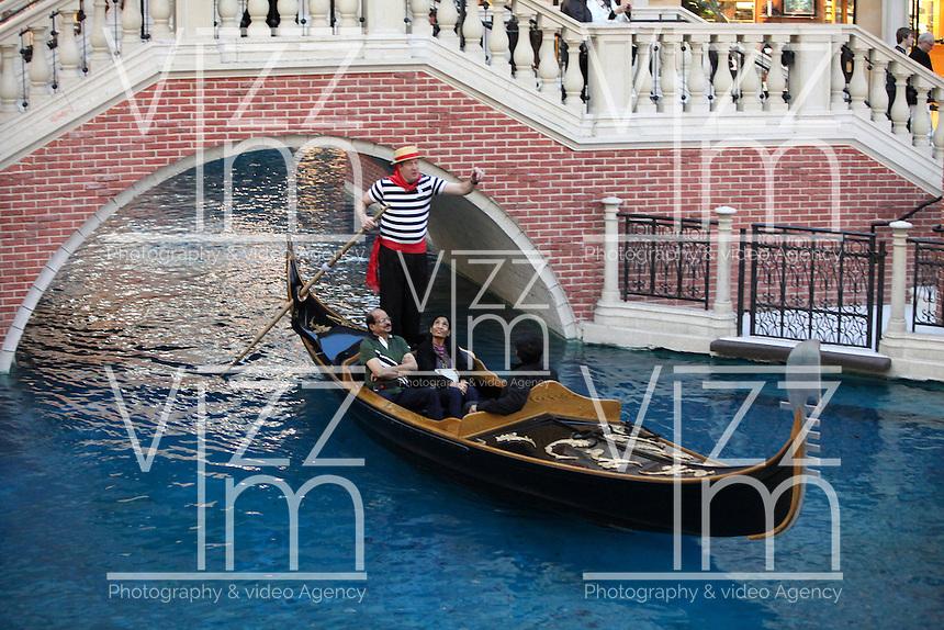 LAS VEGAS-ESTADOS UNIDOS. El hotel Venetian es uno de los mas vosotados en esta ciudad debido a su replica con los canales de Venecia y sus paseos en gondolas. Photo: VizzorImage