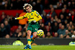 Todd Cantwell of Norwich City shoots at goal during the Premier League match at Old Trafford, Manchester. Picture date: 11th January 2020. Picture credit should read: James Wilson/Sportimage