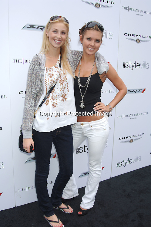 Whitney Port and Audrina Patridge of The Hills..at The Style Villa at The Bryant Park Hotel on ..August 31, 2006. ..Robin Platzer, Twin Images