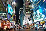 Pictures, photos of Time Square, New York City, taken by day, by night, and under snow.