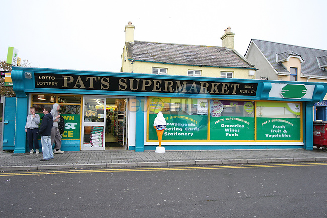 Pat's Supermarket in Laytown, Co.Meath where two armed gunmen, dressed in black wearing balaclavas, attempted to rob money from the post office desk at 10 am this morning.  Two members of the supermarket staff were made lie on the ground behind the counter during the robbery but the gunmen escaped empty handed...Photo NEWSFILE/Jenny Matthews.(Photo credit should read Jenny Matthews/NEWSFILE)....This Picture has been sent you under the condtions enclosed by:.Newsfile Ltd..The Studio,.Millmount Abbey,.Drogheda,.Co Meath..Ireland..Tel: +353(0)41-9871240.Fax: +353(0)41-9871260.GSM: +353(0)86-2500958.email: pictures@newsfile.ie.www.newsfile.ie.FTP: 193.120.102.198.