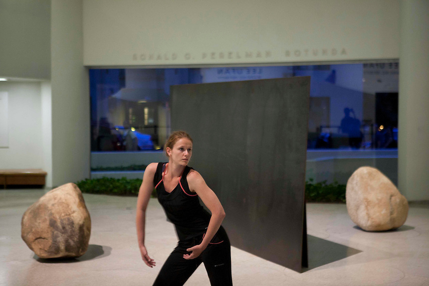"Irena Misirlic in rehearsal during Jonah Bokaer's ""On Vanishing"" at the Guggenheim Museum 