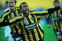 Paul Ifill celebrates scoring the opening goal. A-League football - Wellington Phoenix v Gold Coast United at Westpac Stadium, Wellington. Friday, 13 August 2010. Photo: Dave Lintott/lintottphoto.co.nz