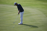Rickie Fowler (Team USA) putting on the 7th during Friday's Foursomes, at the Ryder Cup, Le Golf National, Île-de-France, France. 28/09/2018.<br /> Picture David Lloyd / Golffile.ie<br /> <br /> All photo usage must carry mandatory copyright credit (© Golffile | David Lloyd)