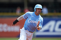 Zack Gahagan (10) of the North Carolina Tar Heels hustles towards third base against the Florida State Seminoles in the 2017 ACC Baseball Championship Game at Louisville Slugger Field on May 28, 2017 in Louisville, Kentucky. The Seminoles defeated the Tar Heels 7-3. (Brian Westerholt/Four Seam Images)